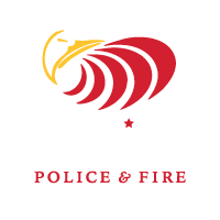 world police and fire games logo by good soil agency